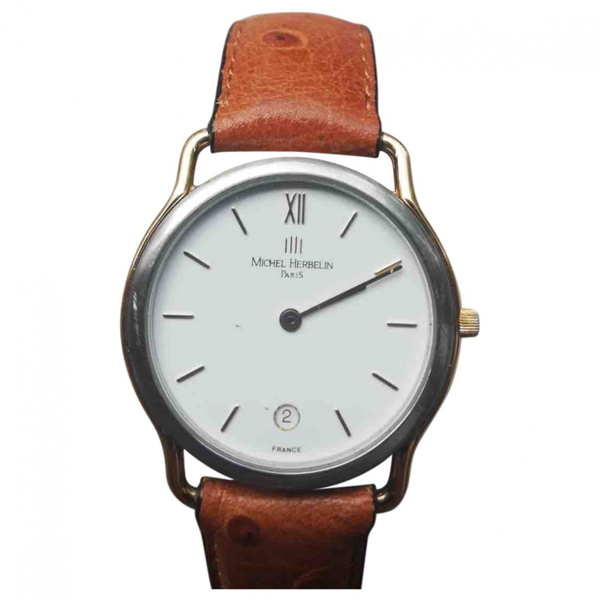 Michel Herbelin \N Brown Steel watch for Men \N