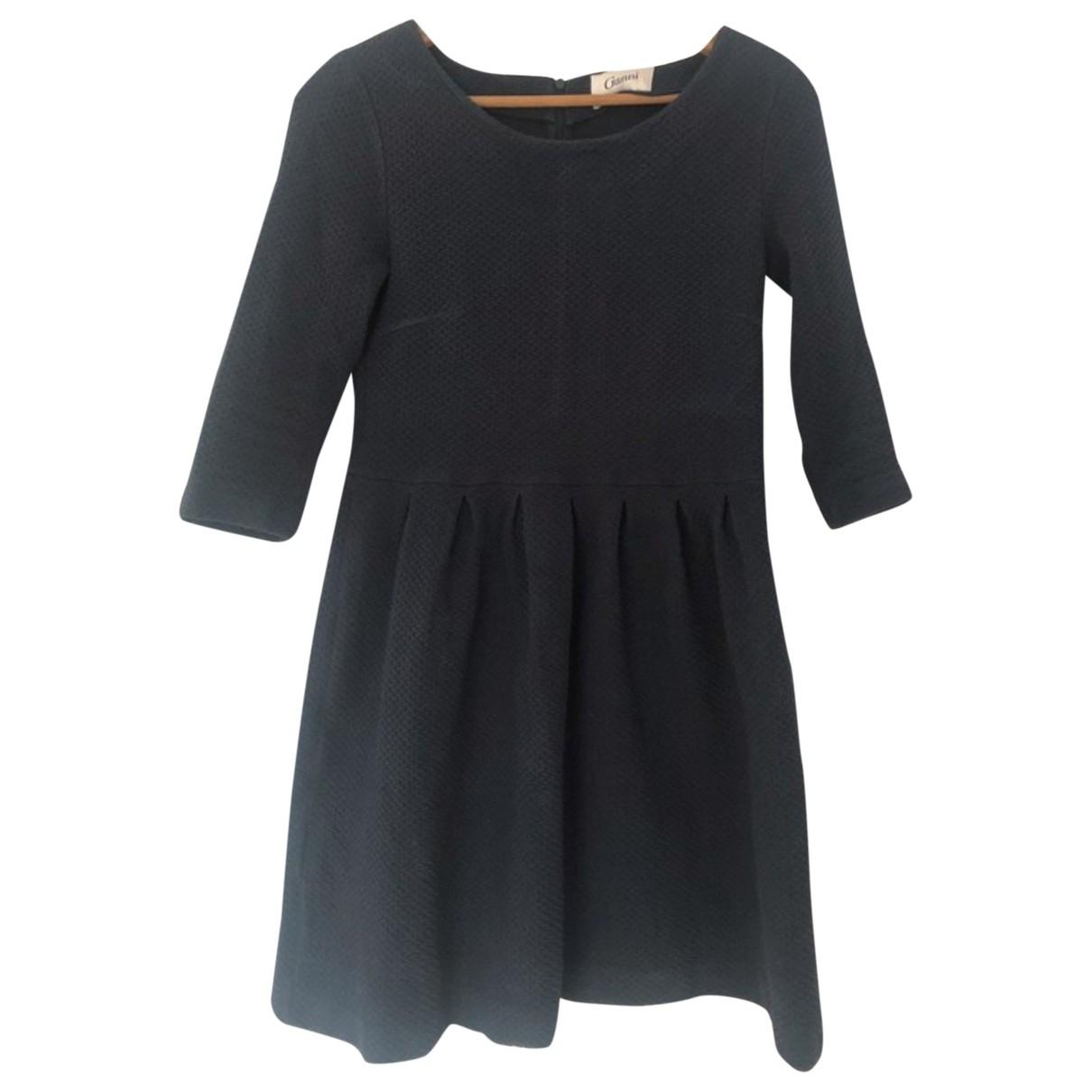 Ganni \N Kleid in  Blau Baumwolle - Elasthan