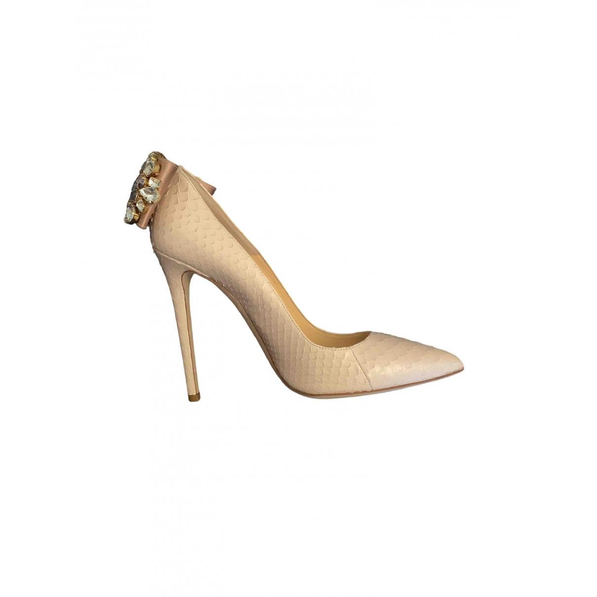 Gedebe - Escarpins   pour femme en cuir - beige