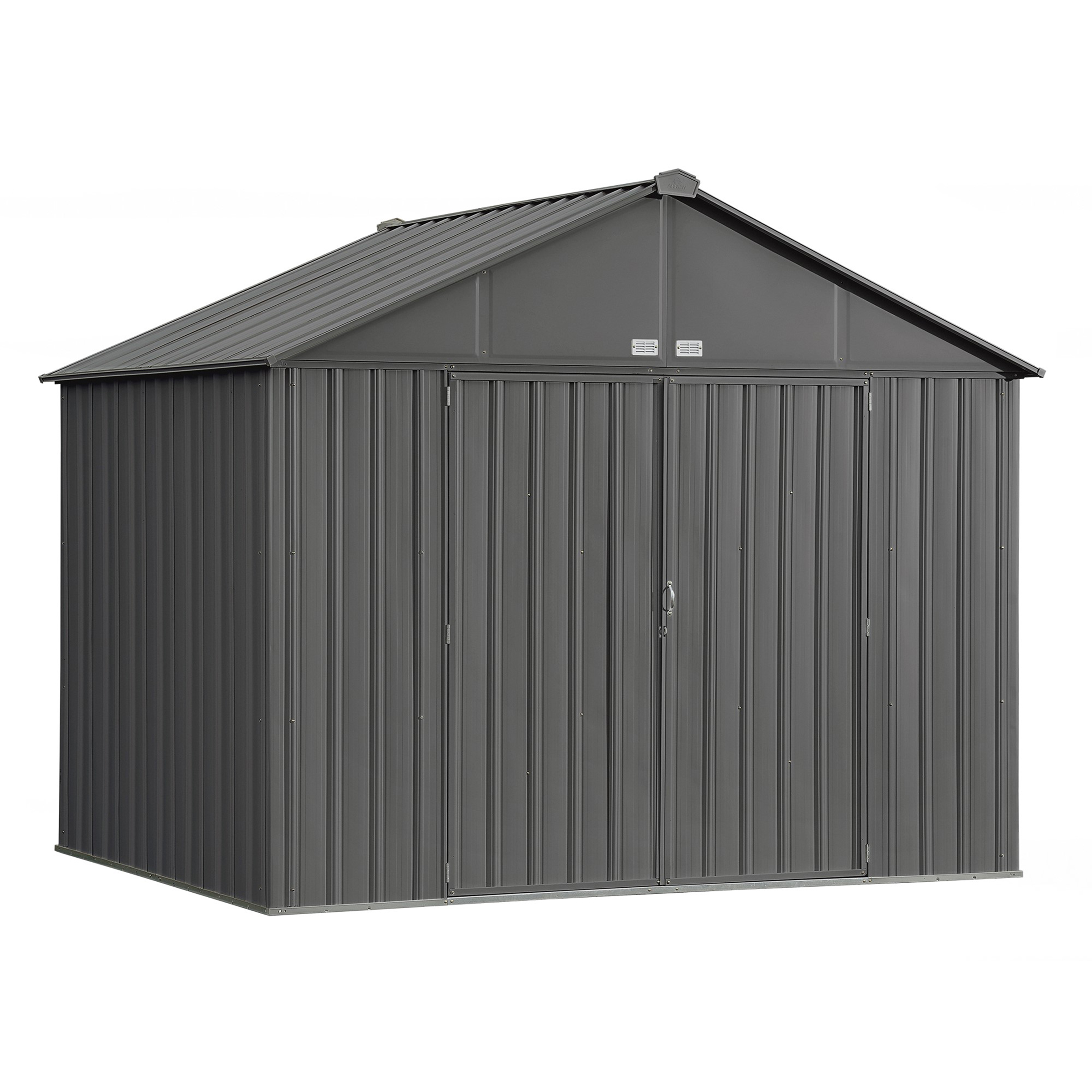 EZEE Shed, 10x8, Extra High Gable, 72 in walls, Charcoal