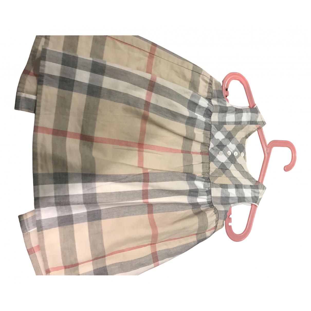 Burberry - Robe    pour enfant en coton - beige