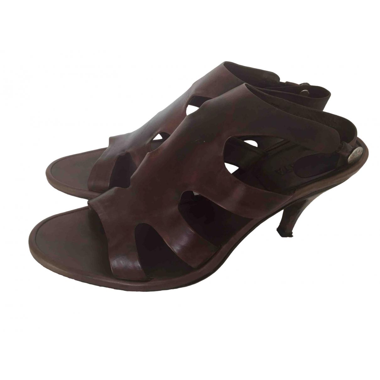 Premiata \N Brown Leather Sandals for Women 39 EU