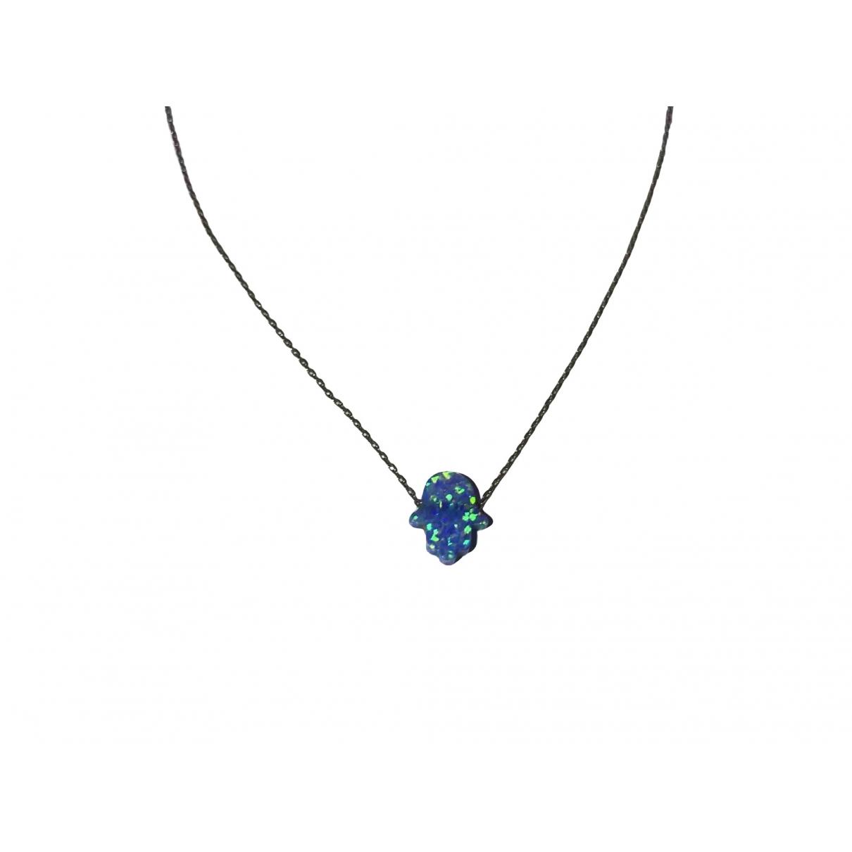 - Collier Motifs Religieux pour femme en argent - turquoise