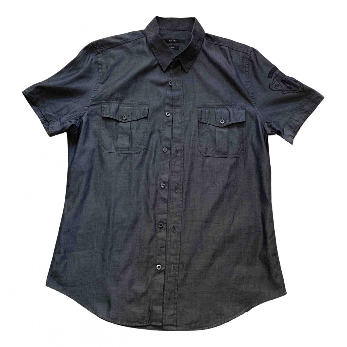Gucci \N Blue Cotton Shirts for Men L International