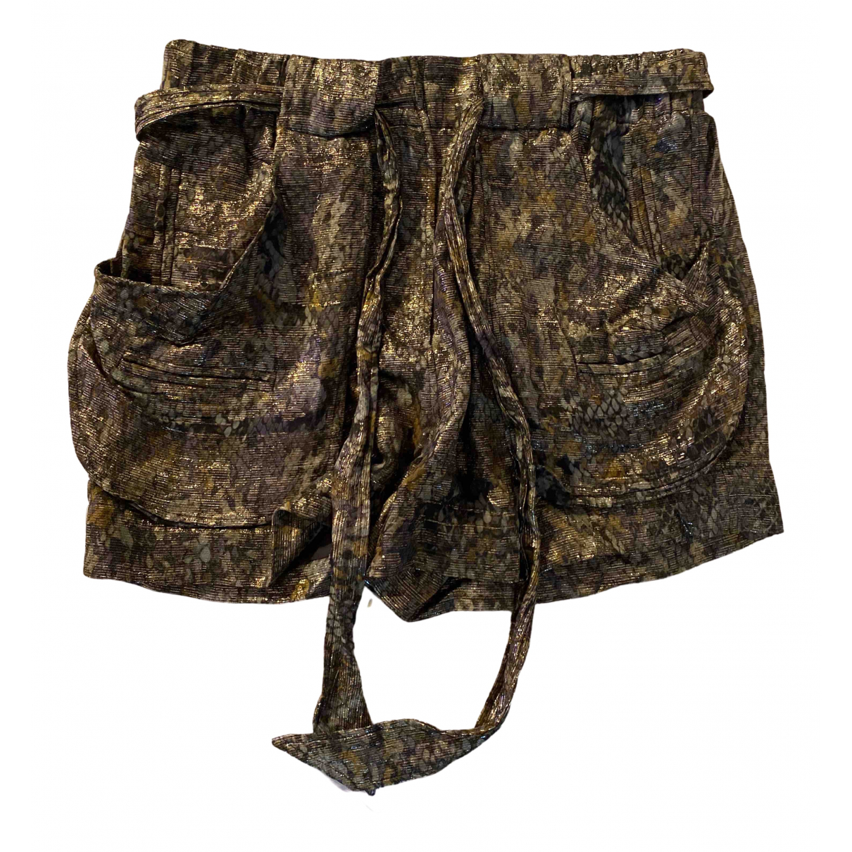 Isabel Marant N Multicolour Silk Shorts for Women 38 IT