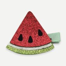 Maedchen Wassermelone verzierte Glitzer Haarspange