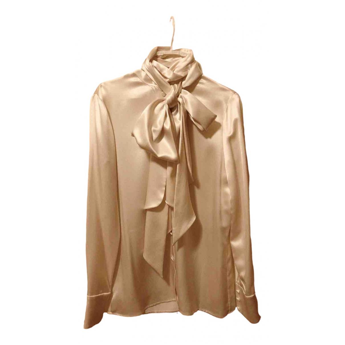 Saint Laurent - Top   pour femme en soie - blanc