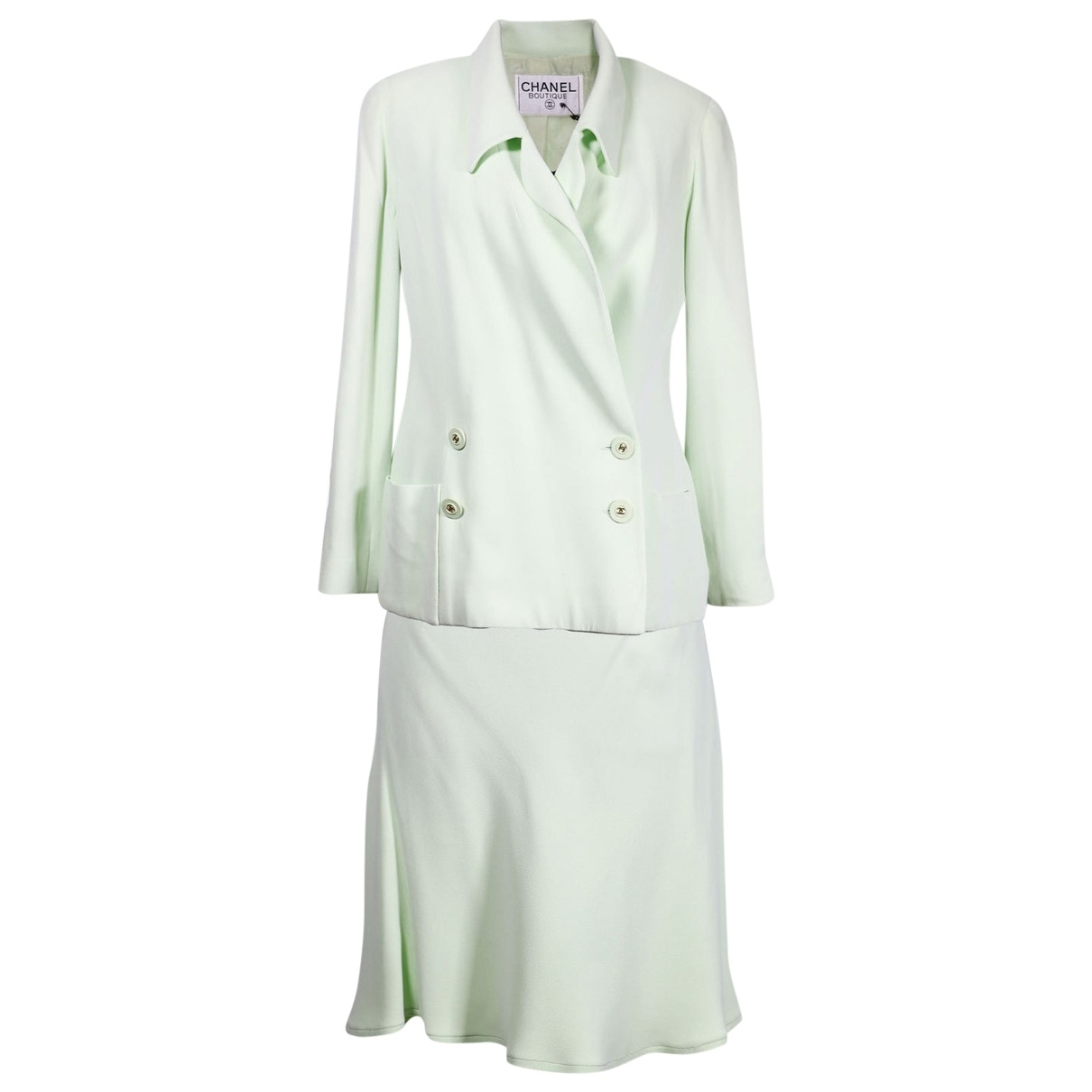 Chanel \N Kleid in  Gruen Baumwolle