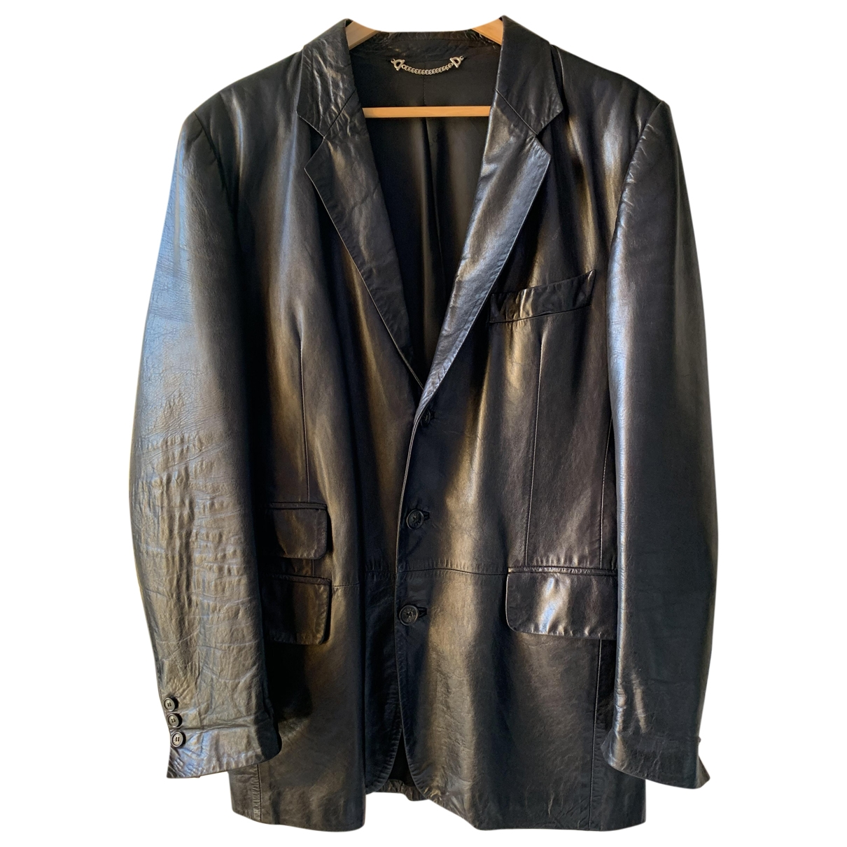 Gucci \N Black Leather jacket  for Men 50 IT