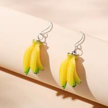 Banana Decor Drop Earrings