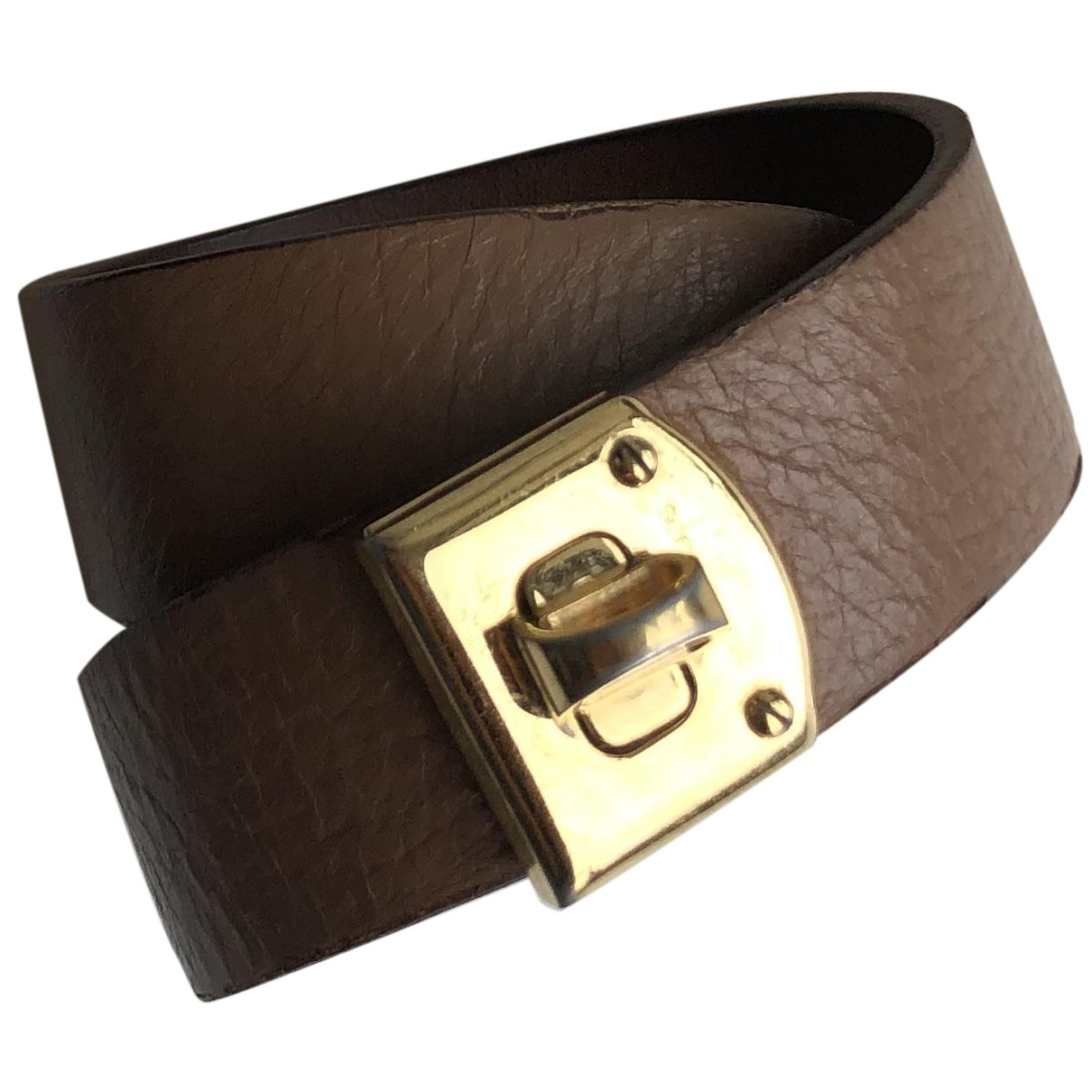 Sergio Rossi \N Armband in  Braun Leder