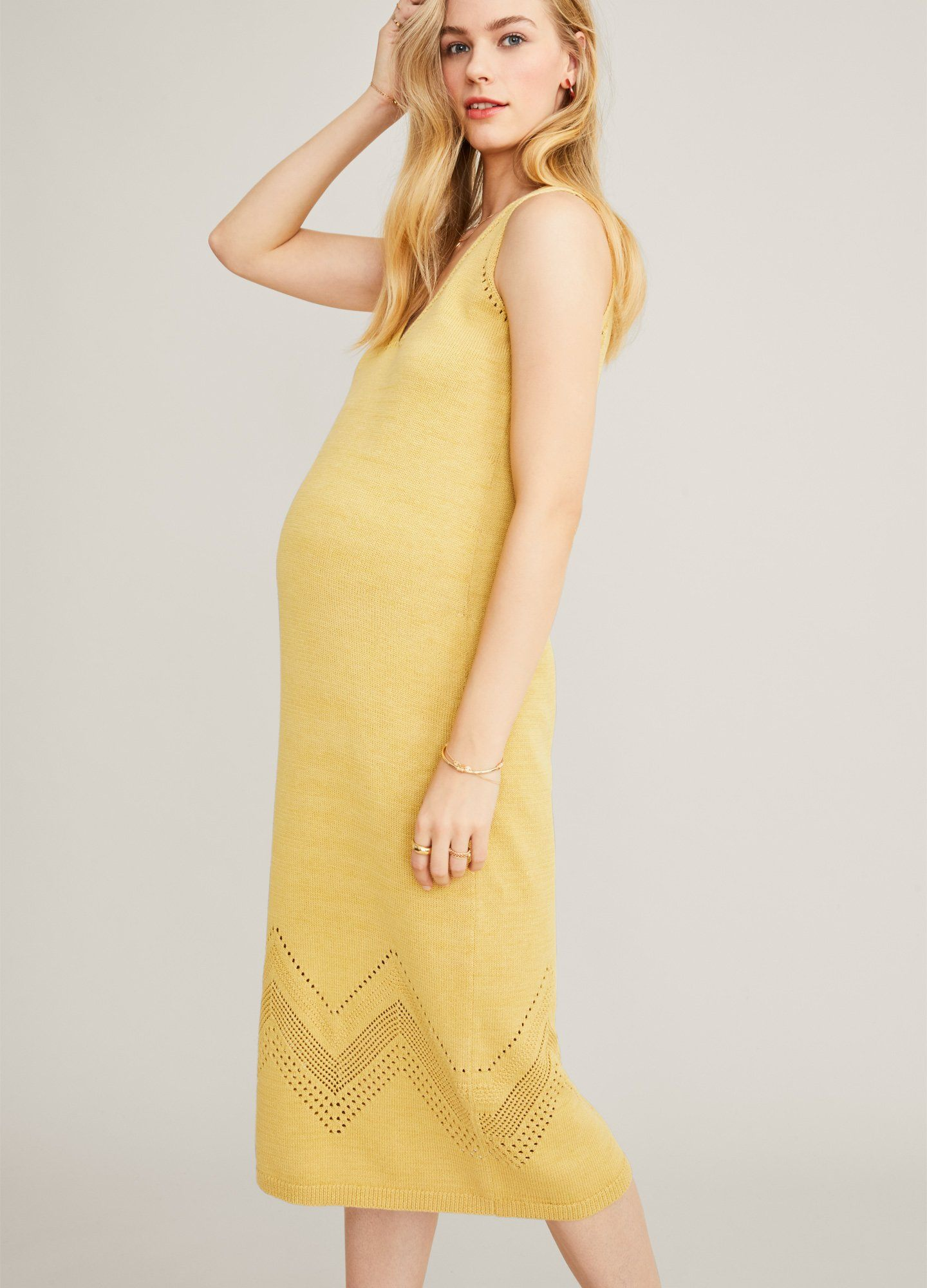 HATCH Maternity The Camilla Dress, Marigold, Size 2