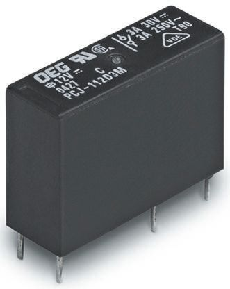 TE Connectivity , 12V dc Coil Non-Latching Relay SPNO, 5A Switching Current PCB Mount Single Pole