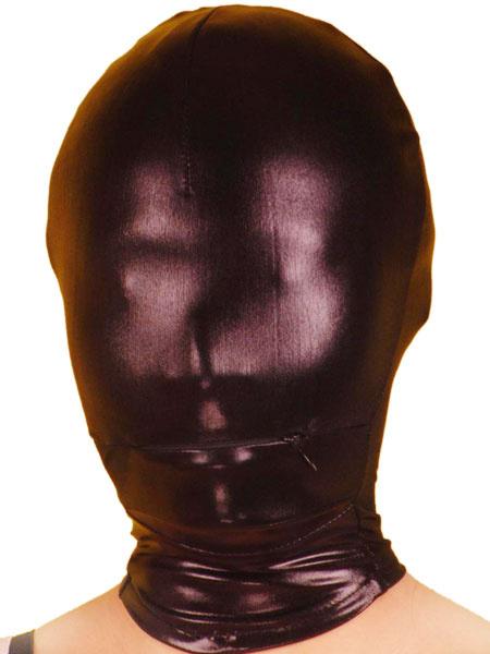 Milanoo Disfraz Halloween Capucha de color negro de brillo metalico Halloween