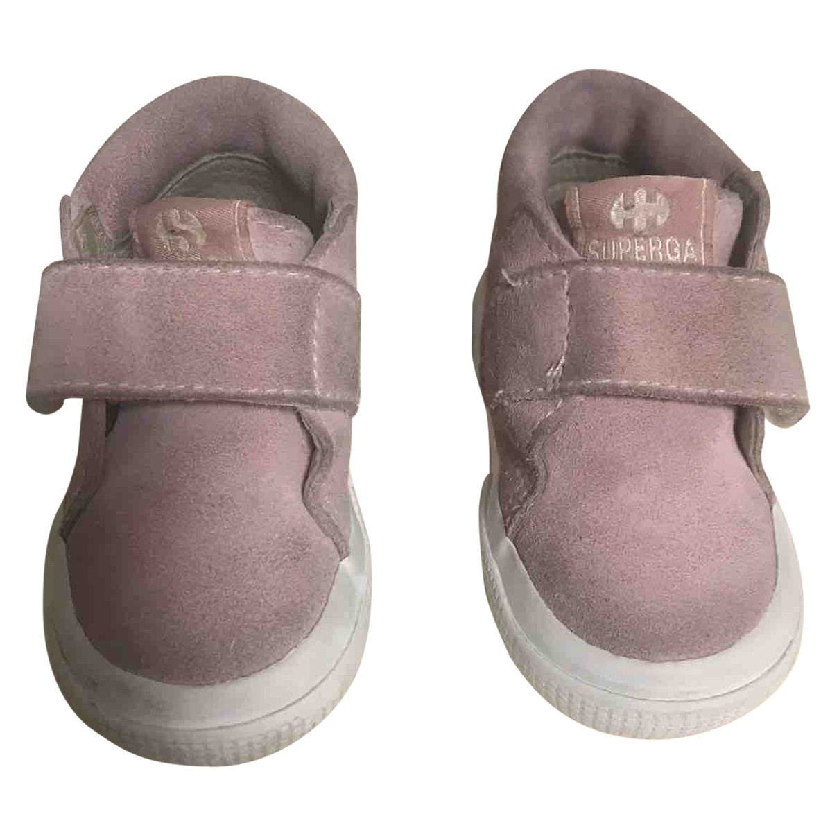 Superga N Pink Suede Boots for Kids 19 FR