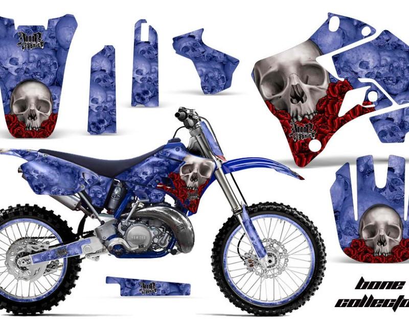 AMR Racing Graphics MX-NP-YAM-YZ125-YZ250-96-01-BC U Kit Decal Sticker Wrap + # Plates For Yamaha YZ125 YZ250 1996-2001áBONES BLUE