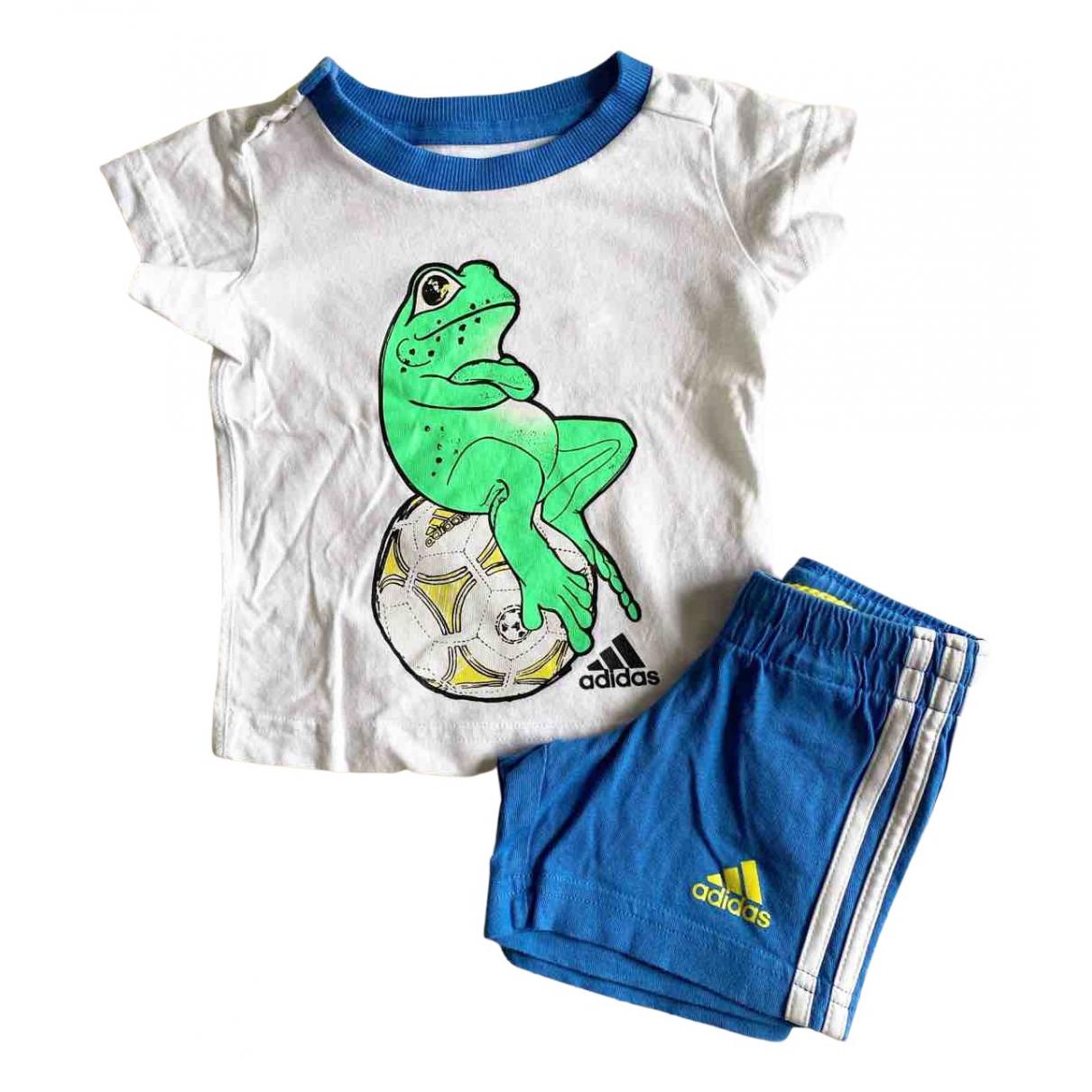 Adidas - Les ensembles   pour enfant en coton - blanc