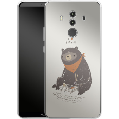 Huawei Mate 10 Pro Silikon Handyhuelle - Sushi Bear von Louis Ros