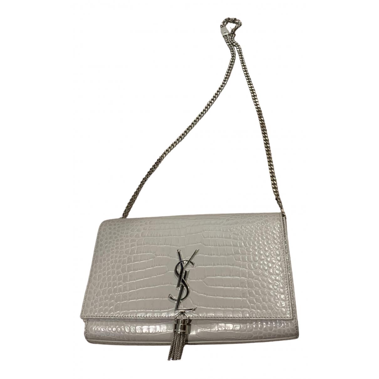 Saint Laurent Pompom Kate Grey Leather handbag for Women \N