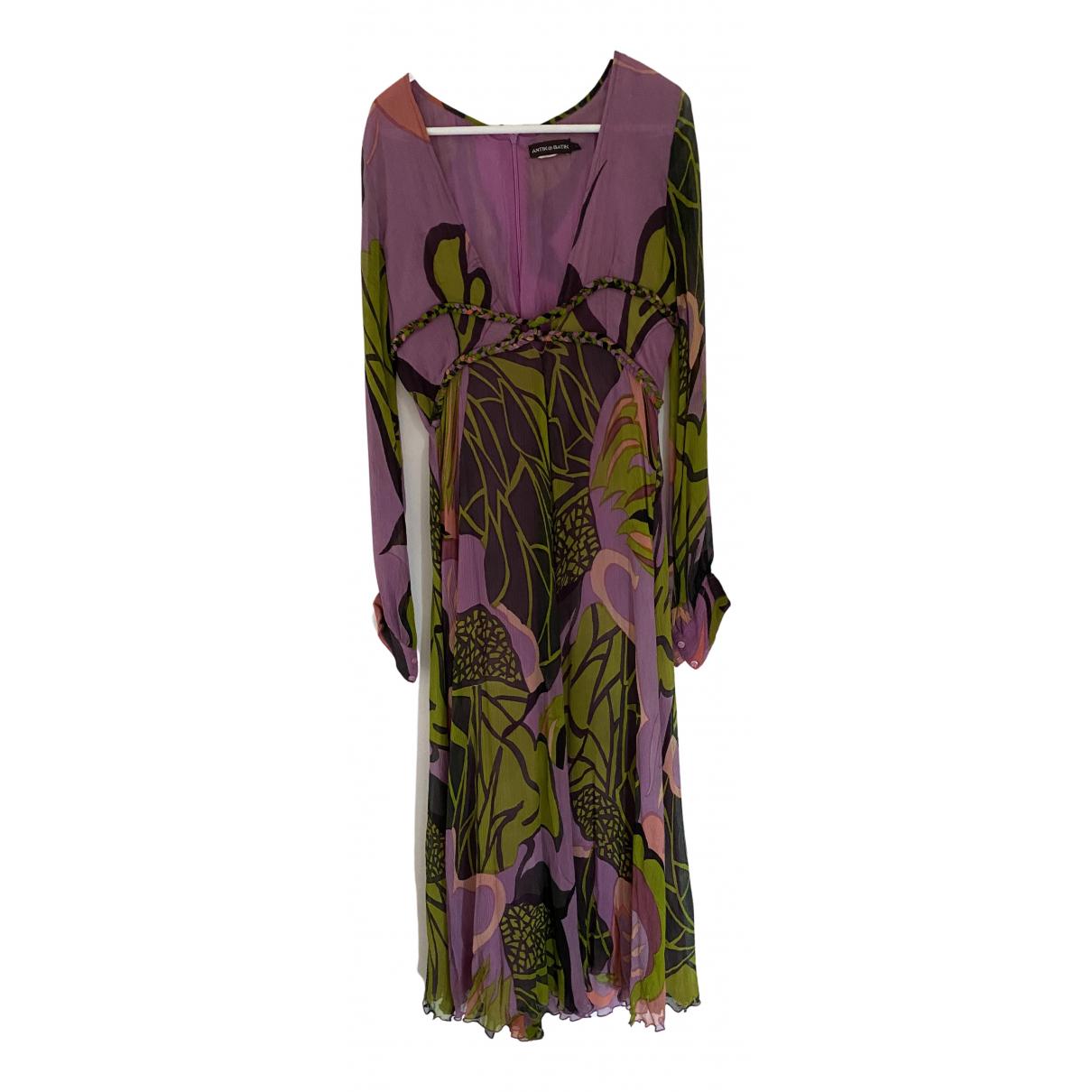 Antik Batik - Robe   pour femme en soie - violet