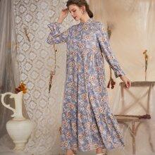 Kleid mit Blumen Muster und Knopfen vorn
