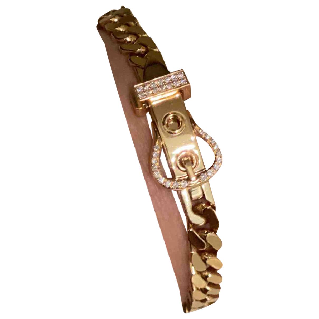 Hermes - Bracelet   pour femme en or rose - dore