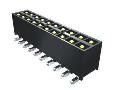 Samtec , IPT1, 20 Way, 2 Row, Straight PCB Header (1000)