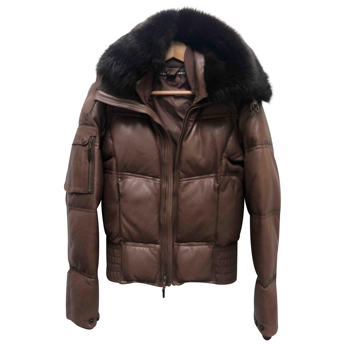 Ralph Lauren Collection - Veste   pour femme en cuir - marron