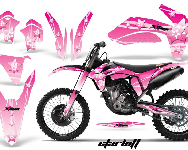 AMR Racing Dirt Bike Decal Graphics Kit Wrap For KTM SX/SX-F/XC/EXC/XFC-W 2011-2013áSTARLETT PINK