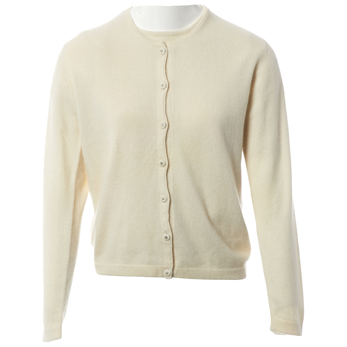 Versace \N Ecru Cashmere Knitwear for Women 40 IT
