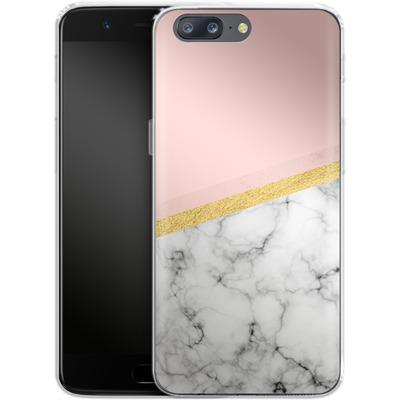 OnePlus 5 Silikon Handyhuelle - Marble Slice von caseable Designs