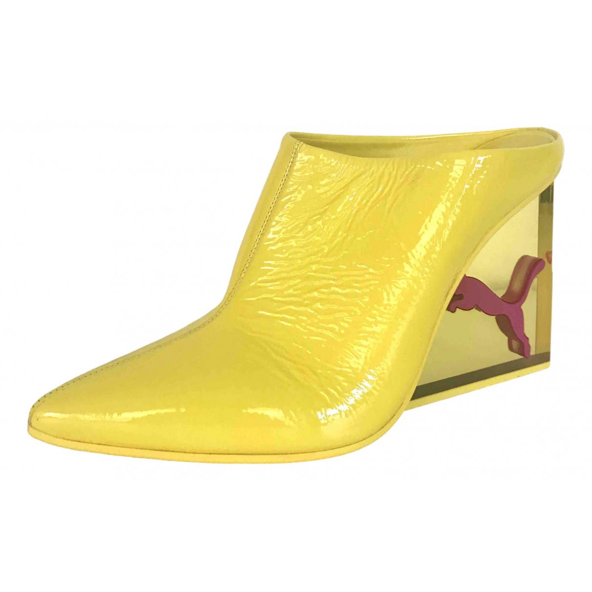Fenty X Puma \N Yellow Patent leather Heels for Women 39 EU