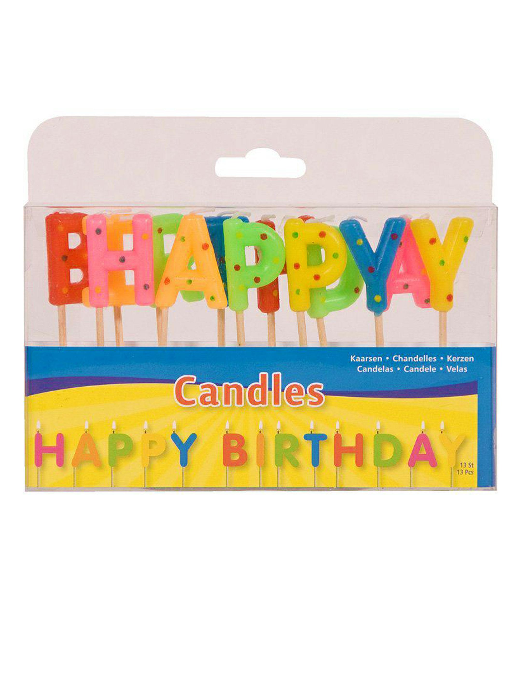 Kerzen-Set Happy Birthday Farbe: multicolor bzw. bunt