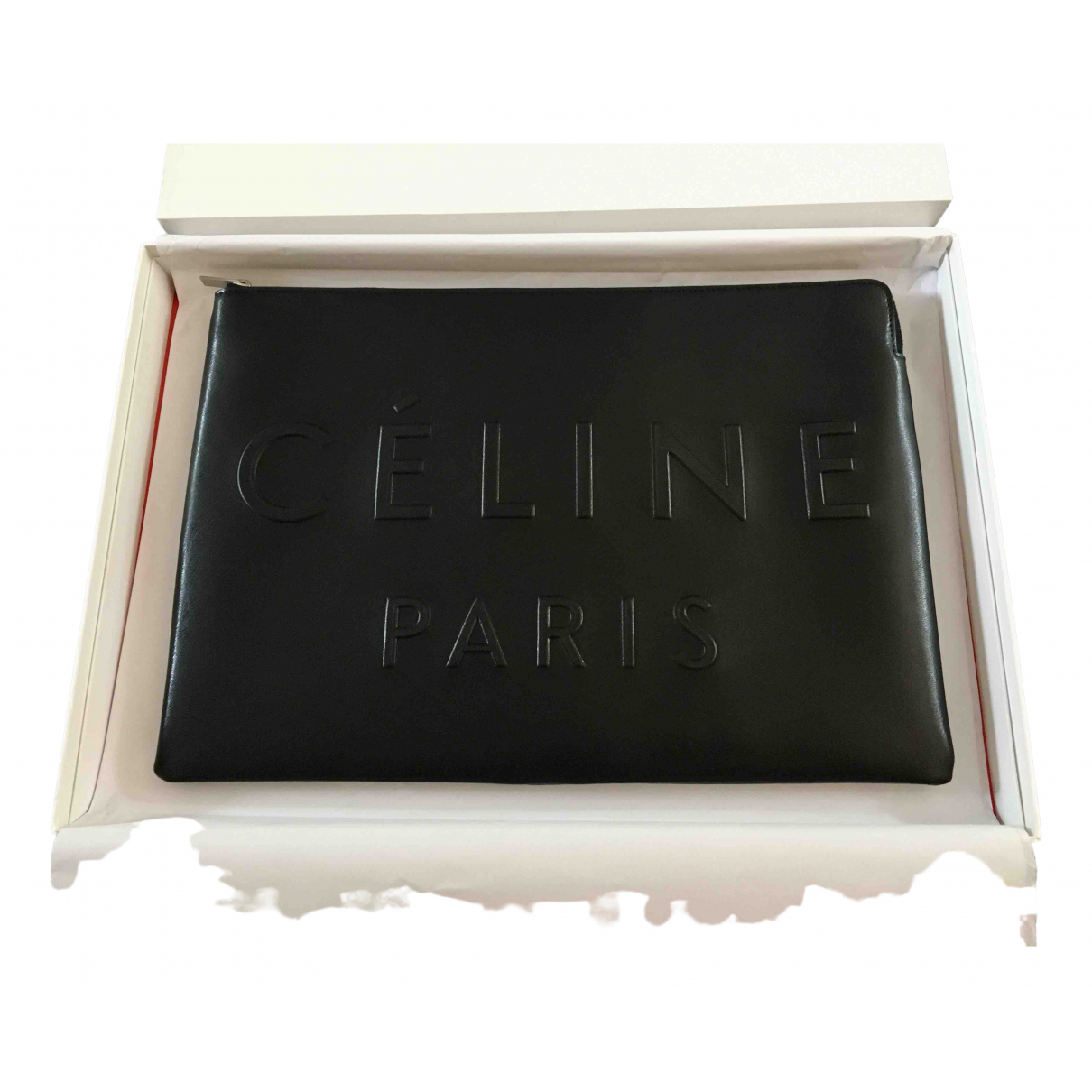 Celine \N Clutch in  Schwarz Leder