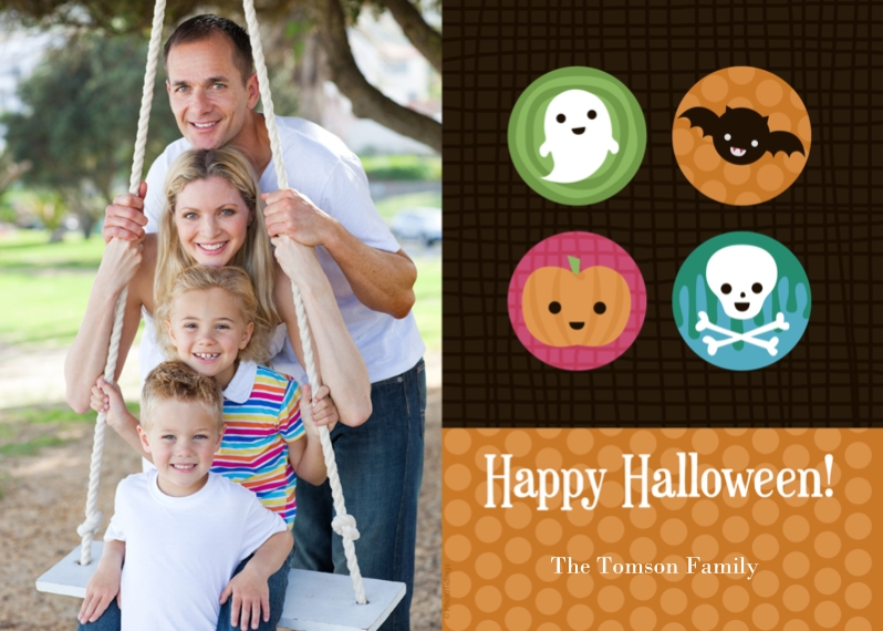 Halloween Photo Cards 5x7 Cards, Premium Cardstock 120lb with Rounded Corners, Card & Stationery -Spooky Characters
