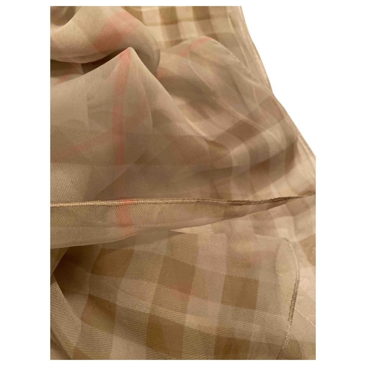 Burberry - Foulard   pour femme en soie - gris