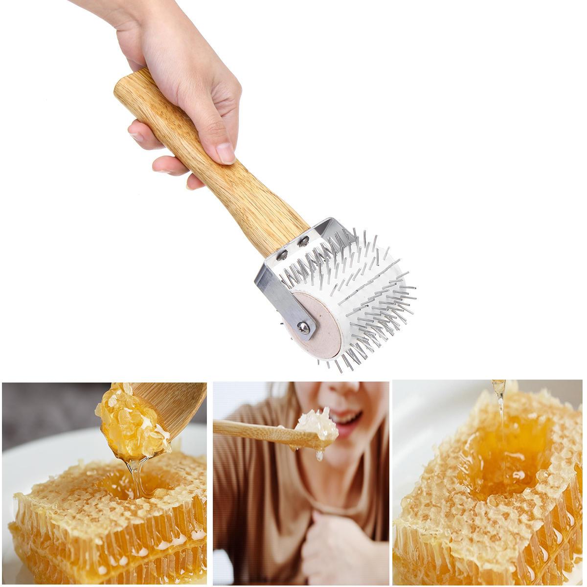 Honey Uncapping Roller Extracting Needle Roller Bee Comb Beekeeping Tools Set