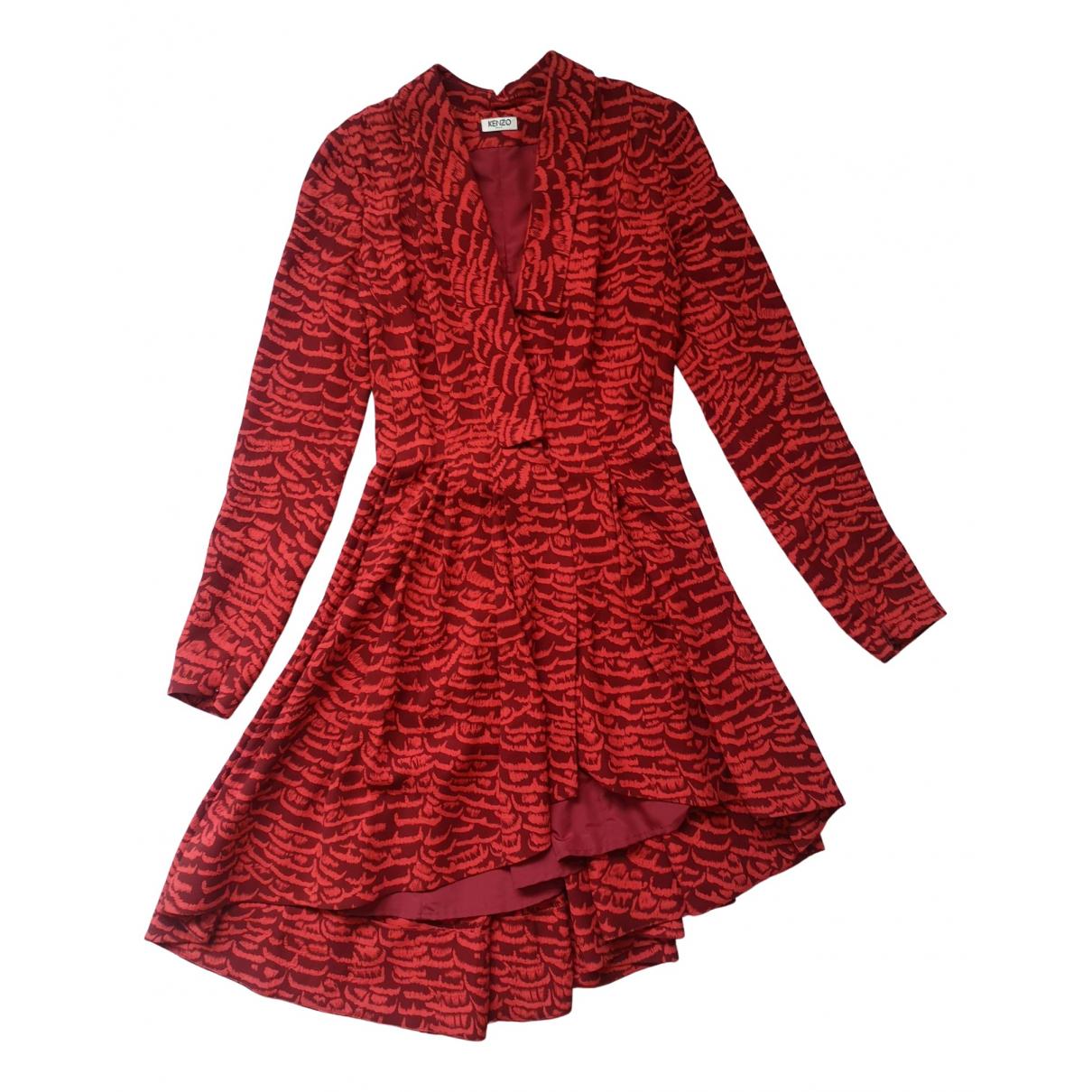 Kenzo \N Kleid in  Rot Viskose