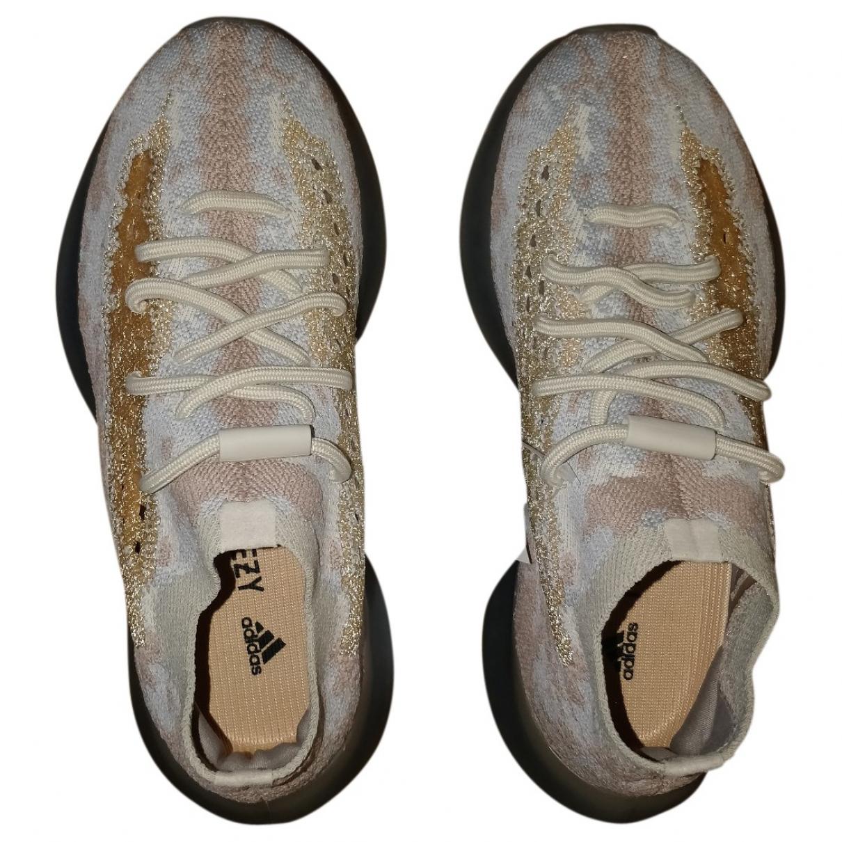 Yeezy X Adidas - Baskets Boost 380 pour femme en toile - marron