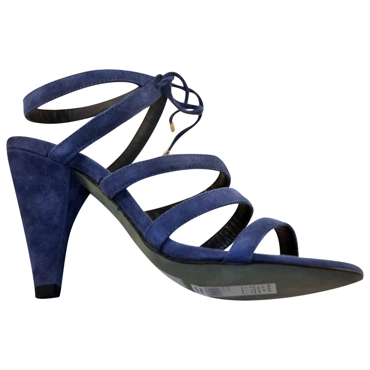 Hoss Intropia \N Sandalen in  Blau Veloursleder