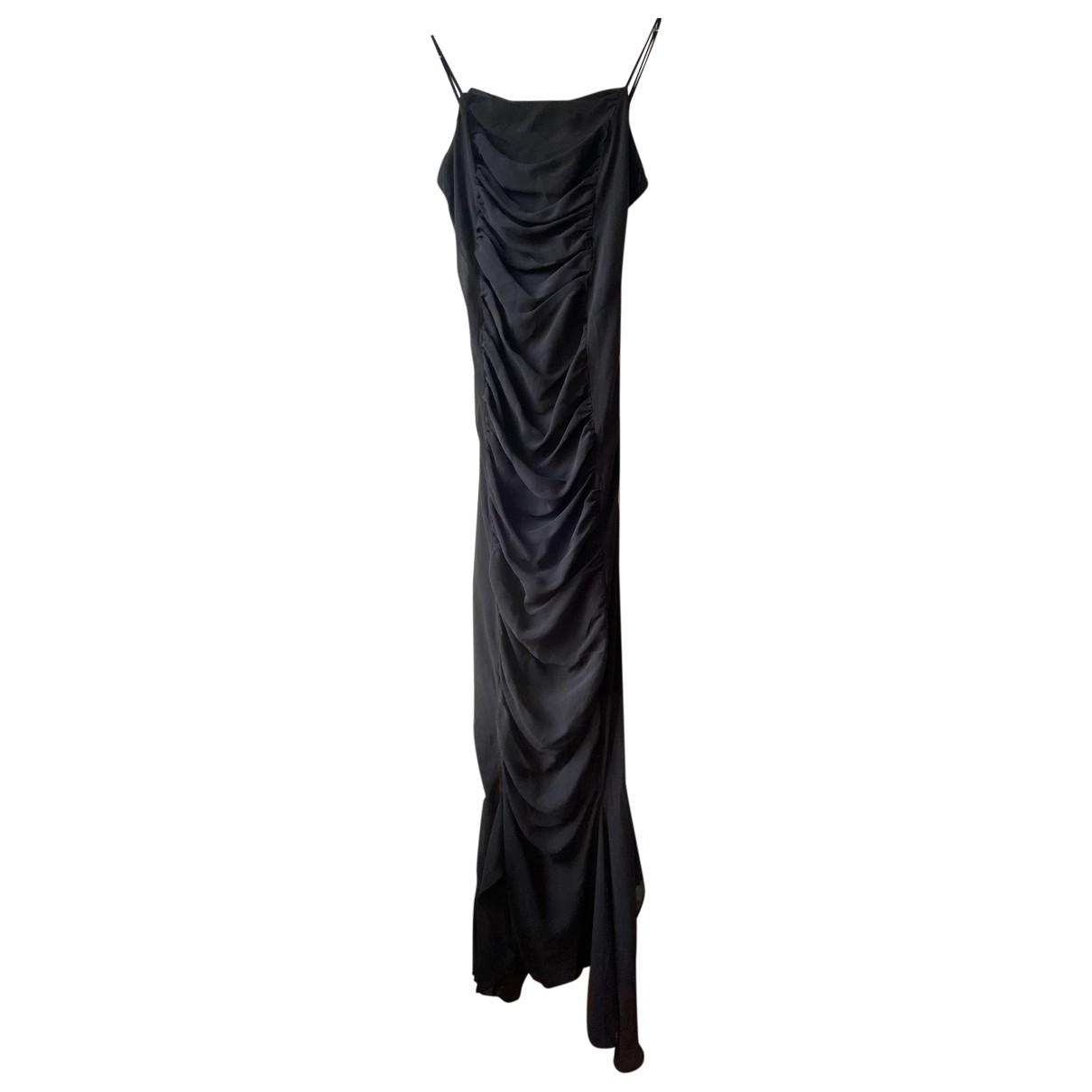 - Robe   pour femme en soie - noir