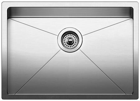 519547 Quatrus Stainless Steel R15 Medium Single Bowl Kitchen
