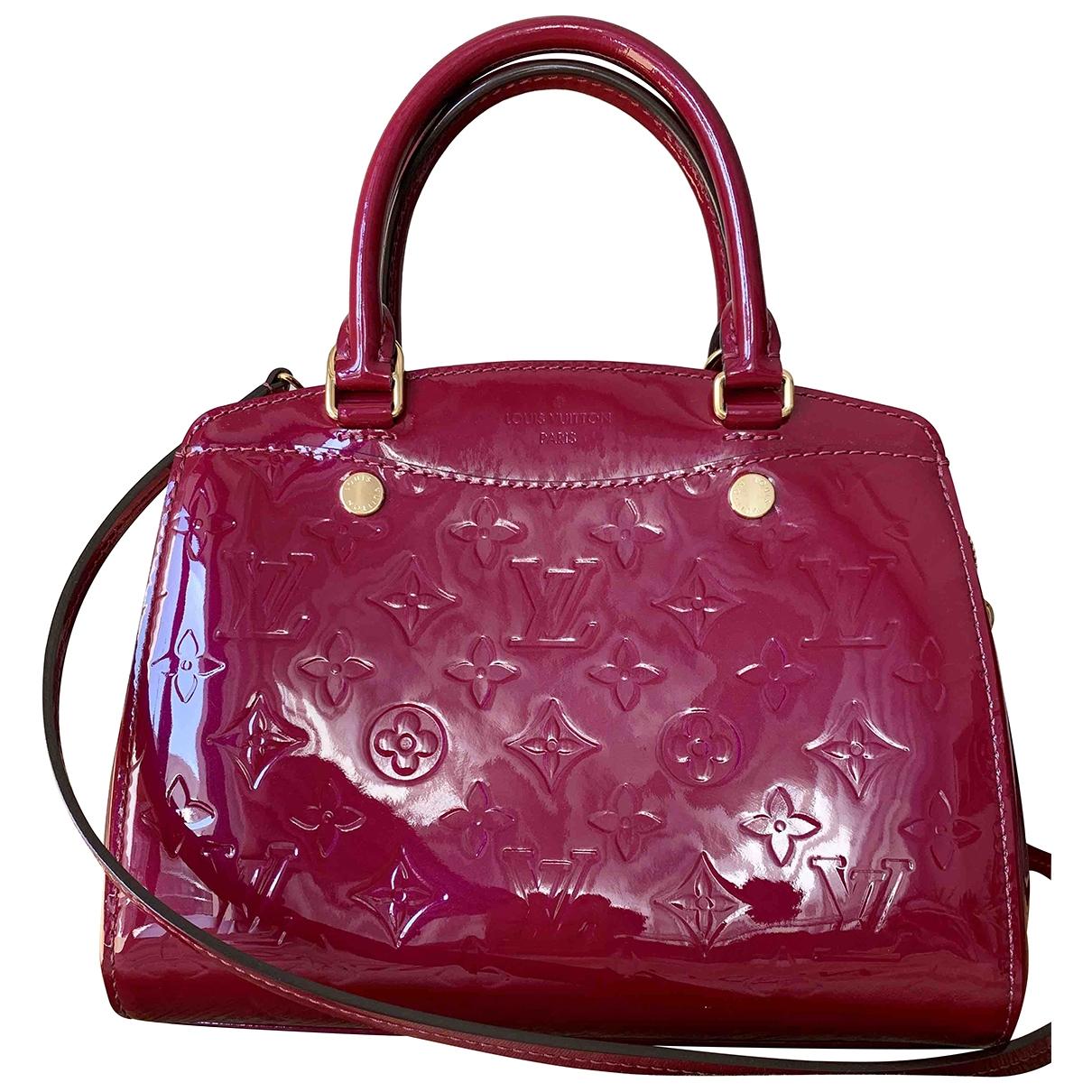 Louis Vuitton - Sac a main Brea pour femme en cuir verni - rouge