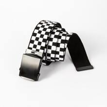 Cinturon con patron geometrico