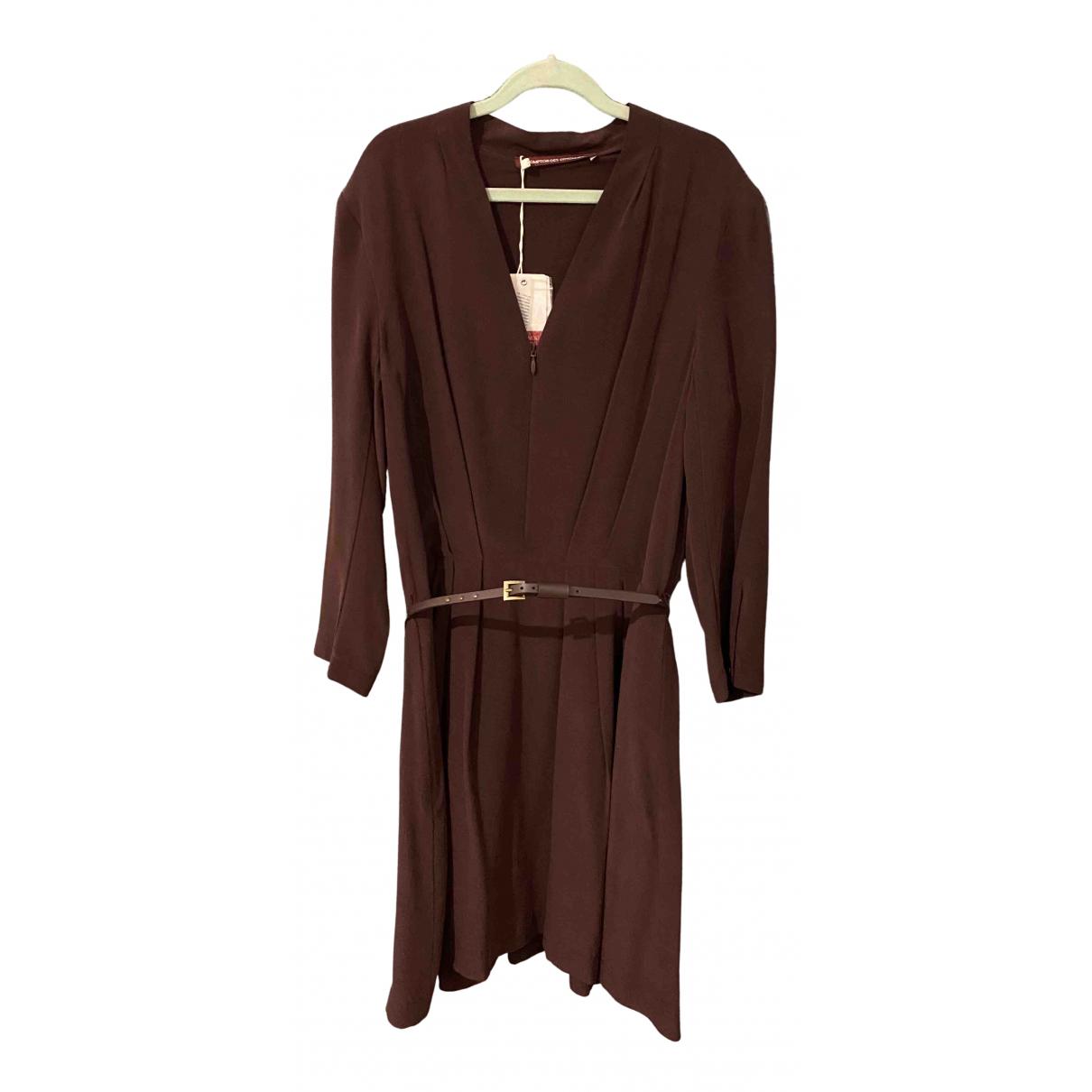 Comptoir Des Cotonniers \N Kleid in  Bordeauxrot Seide