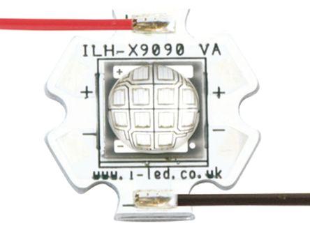 Intelligent LED Solutions ILH-XU01-S380-SC211-WIR200. , U9090 1 Powerstar Series UV LED, 390nm 5500 → 6500mW 140