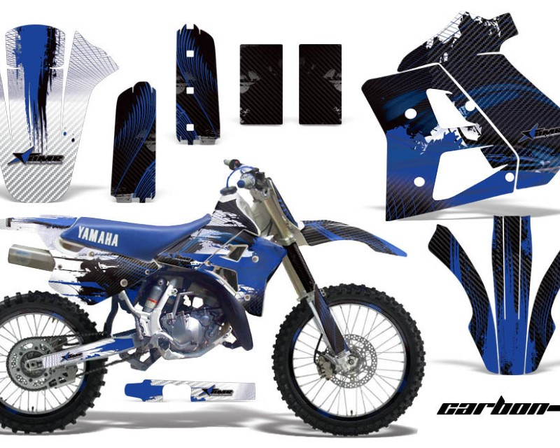 AMR Racing Graphics MX-NP-YAM-WR250Z-91-93-CX U Kit Decal Sticker Wrap + # Plates For Yamaha WR250Z 1991-1993 CARBONX BLUE