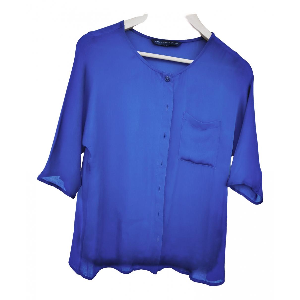 Marc By Marc Jacobs - Top   pour femme en soie - bleu