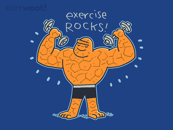 Exercise Rocks T Shirt