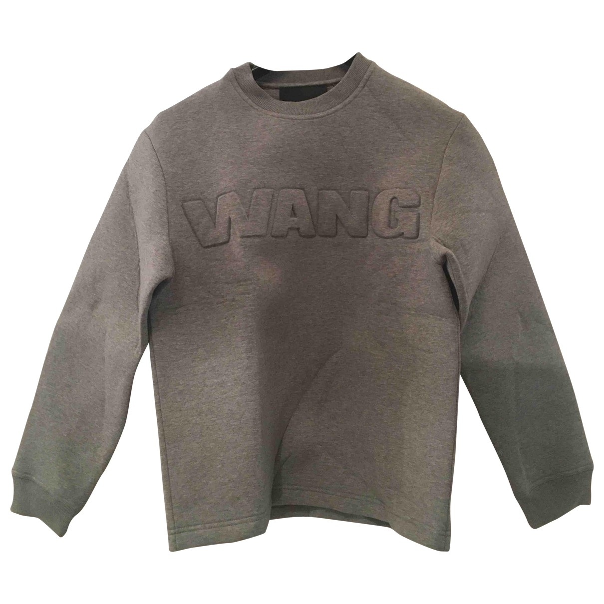 Alexander Wang Pour H&m \N Grey Cotton Knitwear for Women 36 FR